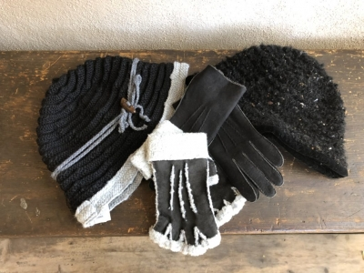 Knit Hats & Maison Fabre Shearling Gloves