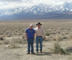 Brad and son Erik in Owens Valley