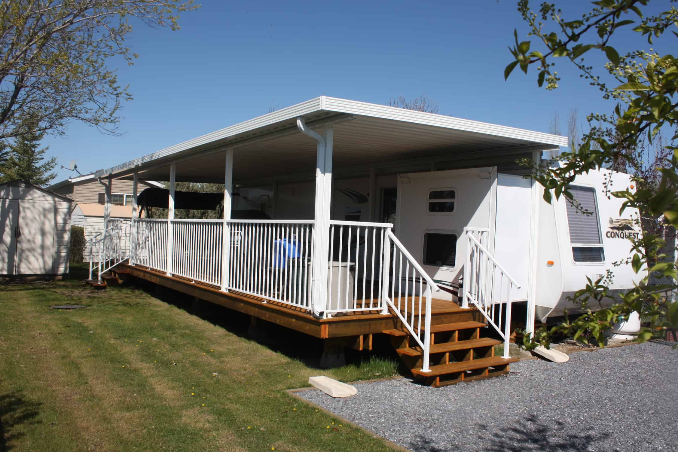 sunrooms for park models and trailers