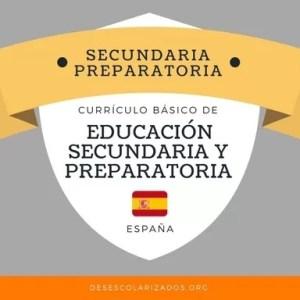 Secundaria y Bachillerato España
