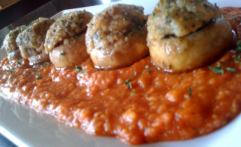 Alligator Stuffed Mushrooms