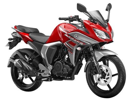 Yamaha Fazer V2 Fi volcano red