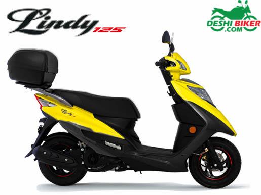 Haojue Lindy 125 Yellow