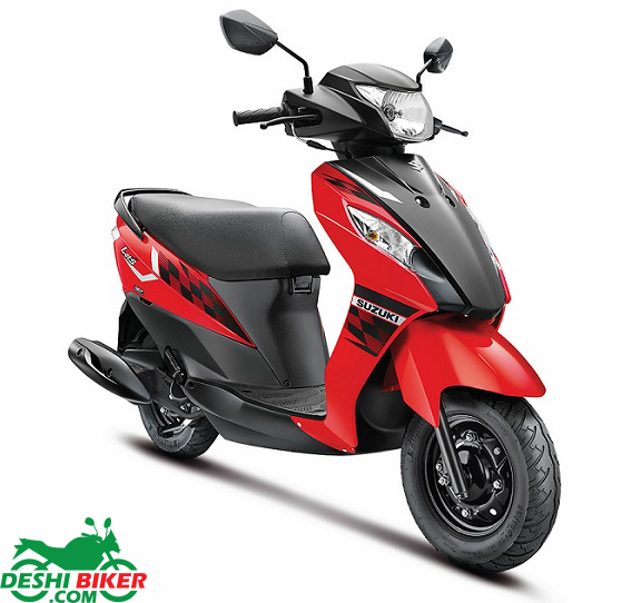 Suzuki Lets Red & Black