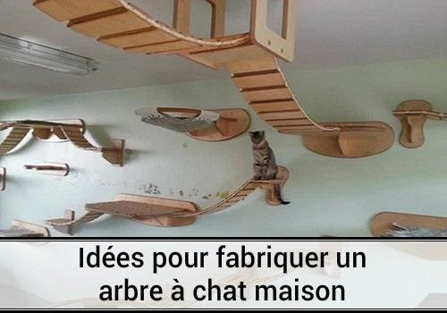 Id es pour fabriquer un arbre chat maison des hommes et des chats - Fabriquer un arbre a chat ...