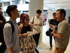 RMIT Students (at SIM) being briefed for their volunteering tasks ahead