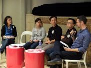 Morning panel discussion with (from the left) Yoko, Joyce, Joe, Keng Hua and Kal