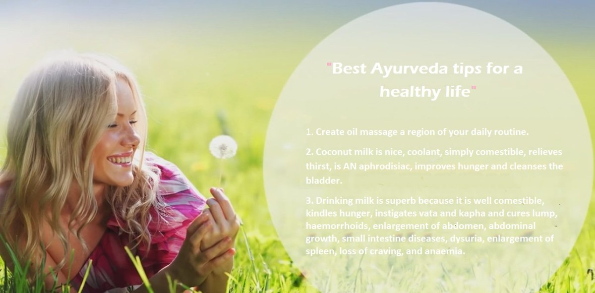 Best Ayurveda tips for a healthy life