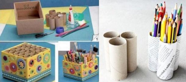 Recyclez Vos Rouleaux De Papier Toilette En Boite Crayon