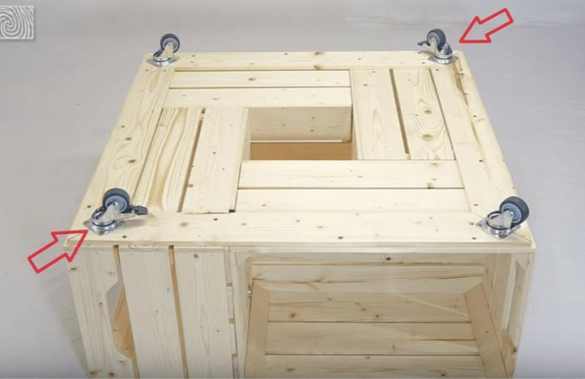 Fabriquer Une Table Basse Avec Des Caisses De Vin Des Ides