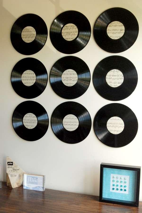 de vieux vinyles