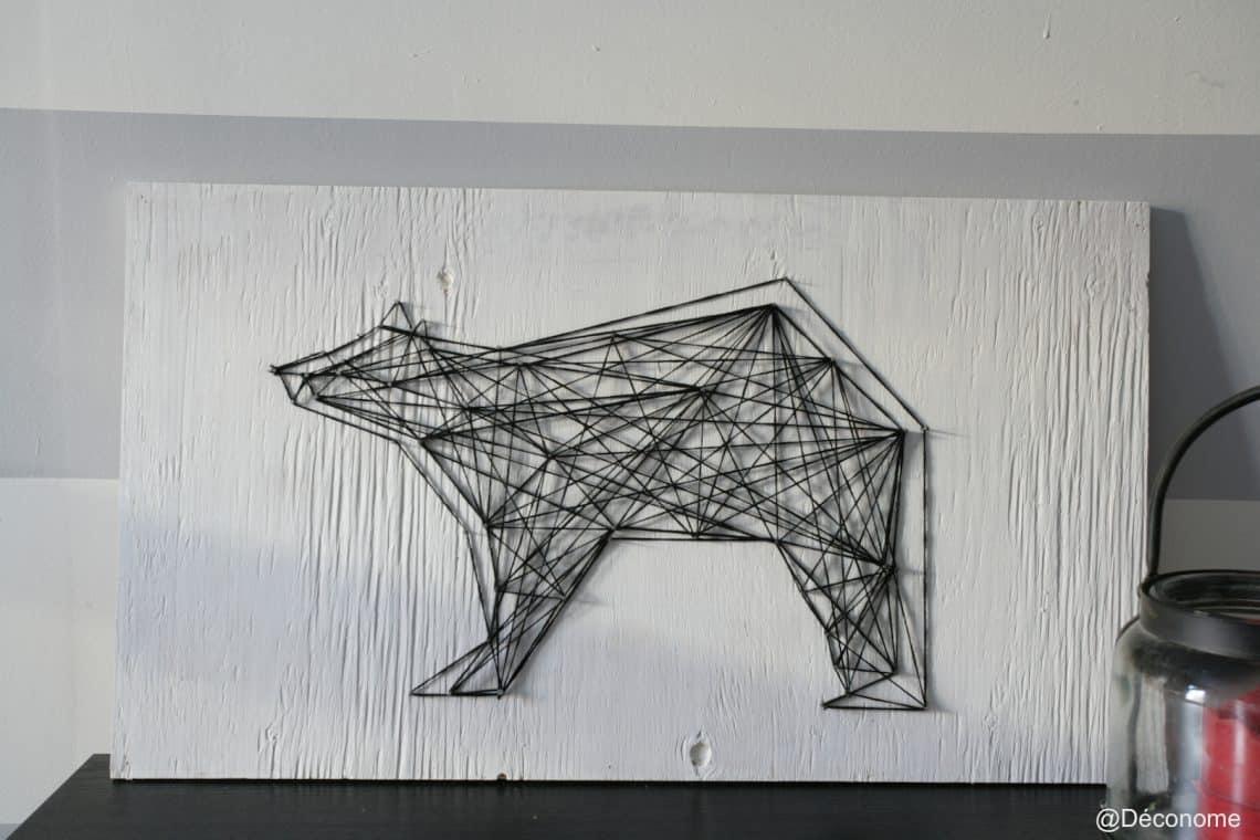 DIY Une Dcoration Murale Design Avec De La Laine Et Des