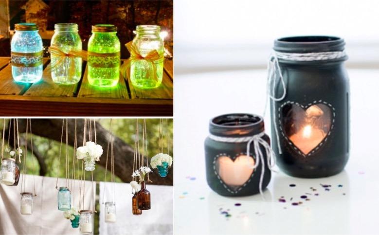 21 Dcorations De Mariage Faire Avec Des Pots En Verre