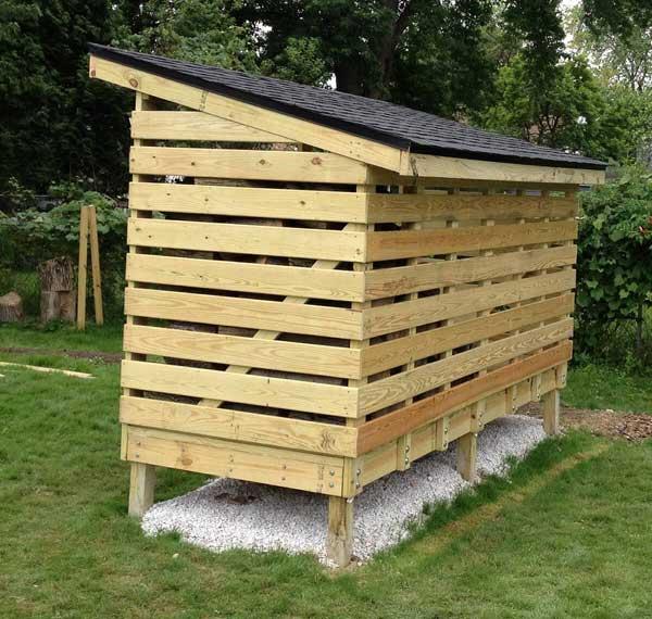 abris de jardin pour stocker votre bois