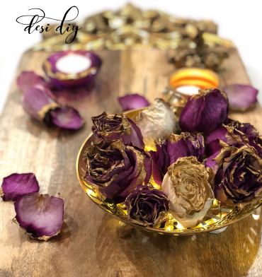 Gold Dipped dried flowers