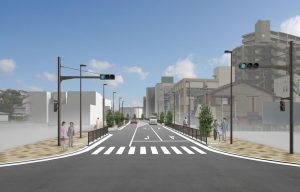 都市計画道路対馬江大利線_起点イメージ図