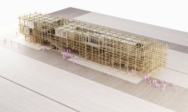 """Austria. Naturally Yours"" - Penda's Austrian Pavilion for the 2015 Milan Expo - Model"