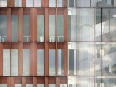 Maersk Building for University of Copenhagen by C.F. Møller - elevation closeup