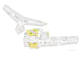 Departments of Law and Central Administration, at the Vienna University of Economics and Business, by CRAB studio - Floor Plan lvl 1