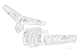 Departments of Law and Central Administration, at the Vienna University of Economics and Business, by CRAB studio - Floor Plan lvl 0