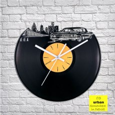 Urban Detroit Vinyl Clock by ArtZavold
