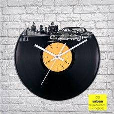 Urban Detroit Vinyl Clock by ArtZavold
