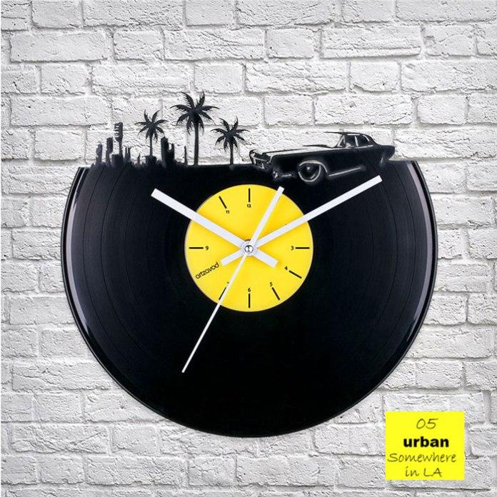 Urban LA Vinyl Clock by ArtZavold