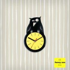 Funny Zoo Owl Vinyl Clock by ArtZavold