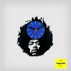 Legends Jimi Hendrix Vinyl Clock by ArtZavold