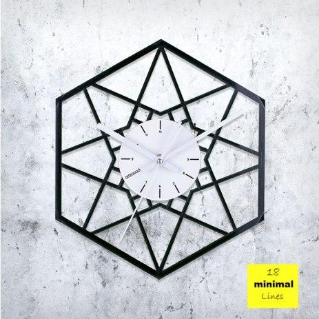 Minimal Lines Vinyl Clock by ArtZavold