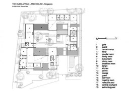 The Overlapping Land/House-Cluny House by Neri&Hu - Ground Floor Plan