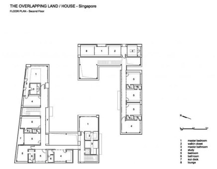 The Overlapping Land/House-Cluny House by Neri&Hu - Plan