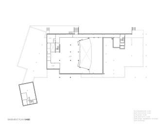 Mont Laurier Multifunctional Theatre by Les architectes FABG - Basement Floor Plan
