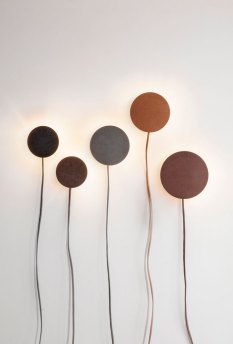 Drift Leather Lamps by Norm Architects