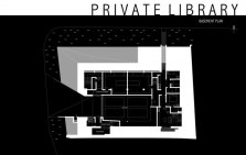 Private Library House by Unit One Design - Basement Plan