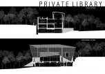 Private Library House by Unit One Design - Section