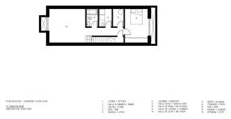 François-René project by Maître Carré & Architecture Open Form - Basement Plan
