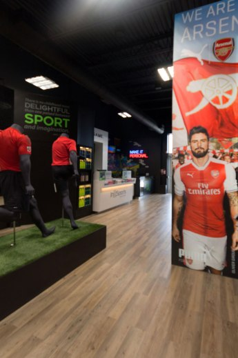 In2Sports Retail Store by Unfold Creative Studio - View of the Pro Shop Area