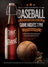 Baseball Sports Bar Flyer