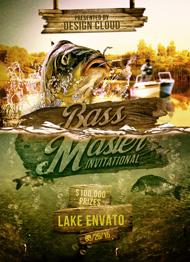 Bass Master Fishing Tournament Flyer