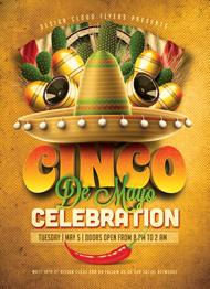 Cinco De Mayo Celebration Flyer