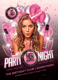 Her Birthday Party Flyer