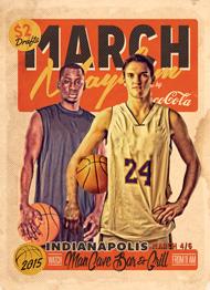 March Mayhem Retro Flyer