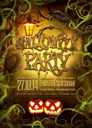 Spooky Forest Halloween Flyer