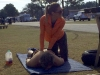 Bart getting a rubdown after some yoga directed by Sondra