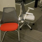 Herman Miller SAYL at Neocon 2011 designed by Yves Behar The back rest Pro Engineer part utilizes more features than any other Pro Engineer part in history and rings in at twenty thousand Pro Engineer features
