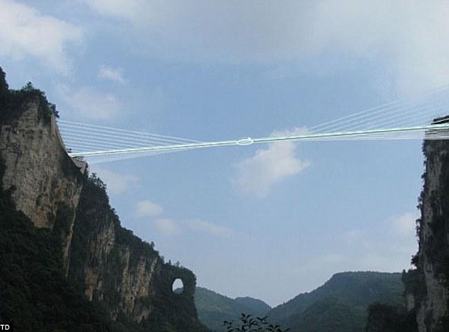 The span of the Zhangjiajie skywalk Credit: Haim Dotan LTD.