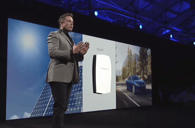 Elon Musk presenting the Tesla Powerwall