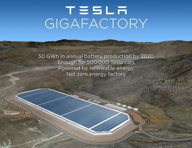 """What Tesla's """"Gigafactory"""" will look like. Tesla"""