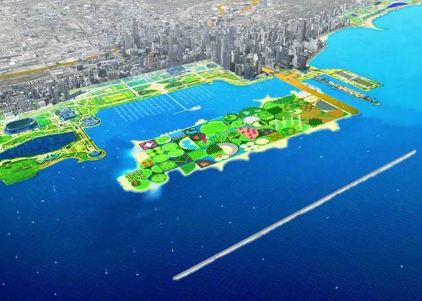 UrbanLab's FilterIsland suggests the creation of an island Image: